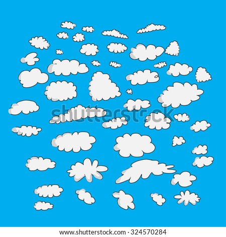 set of cloud,vector illustrator