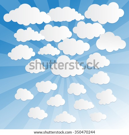 Set of clouds.Vector illustration of clouds collection - stock vector