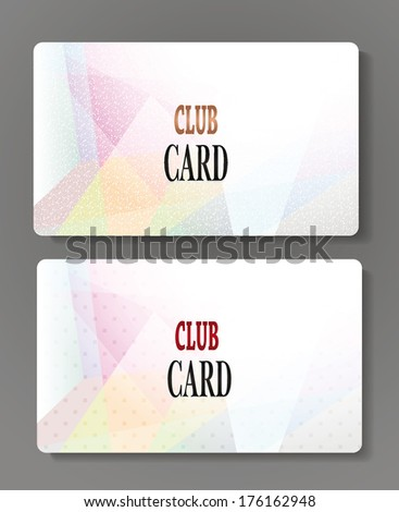 Set of club cards - stock vector