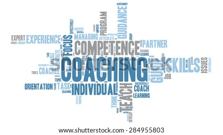Set of coaching - teaching Word Clouds - Isolated on White background