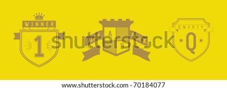 set of coatarms - stock vector