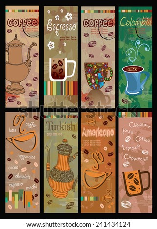 Set of coffee banners - stock vector