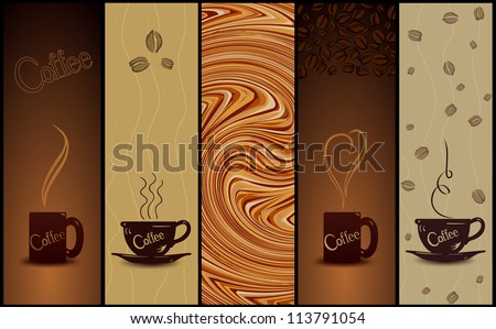 Set of coffee banners. Vector illustration - stock vector