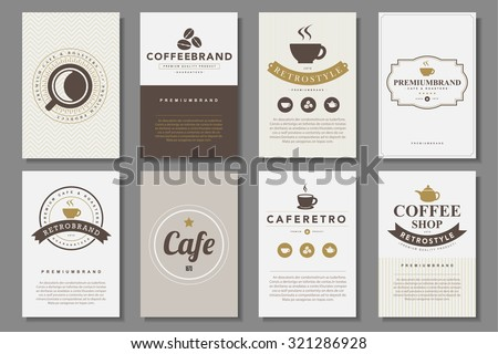 Set of coffee brochures in vintage style .Vector eps10 - stock vector