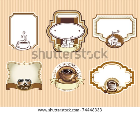 Set of coffee labels - stock vector