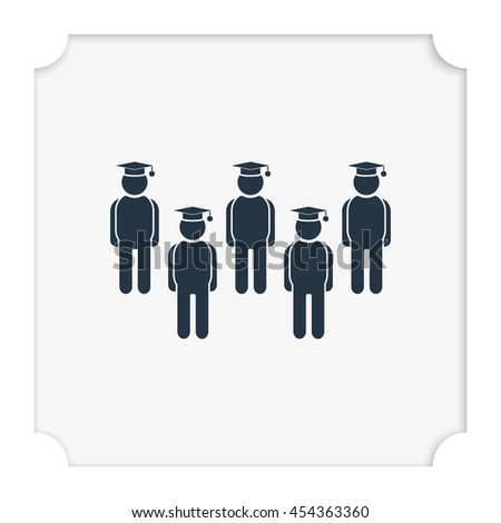 Set of college or university graduation students. - stock vector