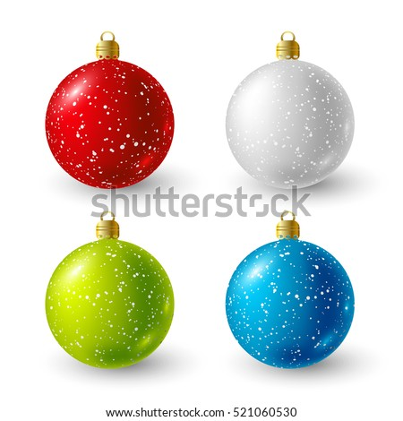 Set of color Christmas balls for Your design