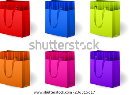 Set of color gift packages