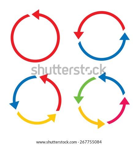 set of color vector arrows - stock vector