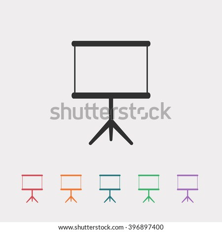 Set of color web icons: black Blank projector icon