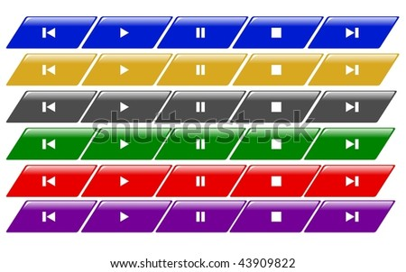 set of colored media bars