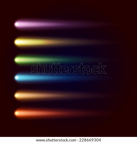 Set of colored spots. Vector - stock vector