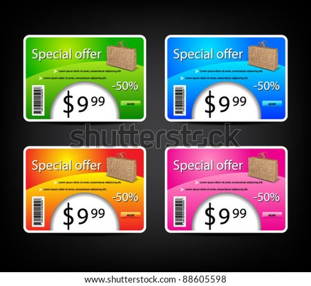 Set of colored temlpates-vector - stock vector