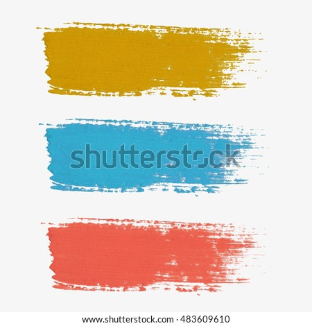 Set of colored vector paint-splatter. The color palette