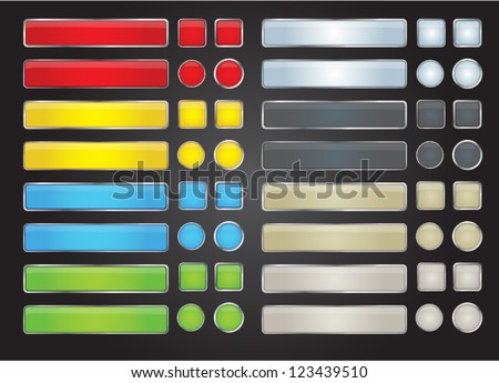 set of colored web button - stock vector