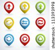 Set of colorful arrow buttons. Vector illustration. - stock vector