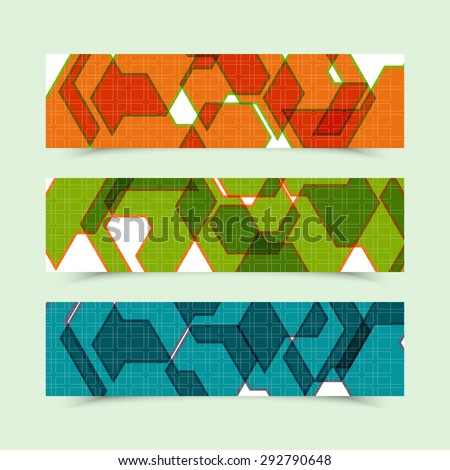 Set of colorful banners  for promotion your business. Abstract vector illustration for templates, visit cards, stickers