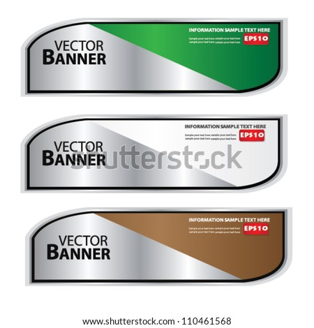 Set of colorful banners,Vector - stock vector