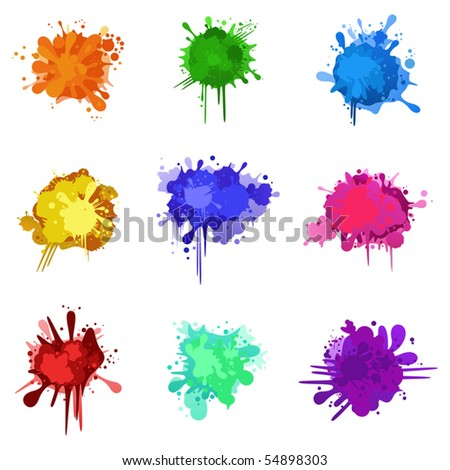 Set of colorful blurs for Your design - stock vector