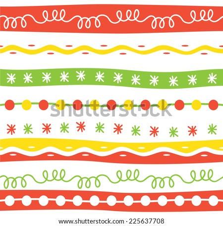 set of colorful border  - stock vector