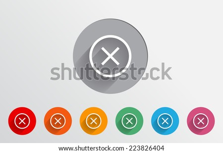 Set of colorful decline icons - stock vector