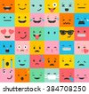 set of colorful emoticons ...