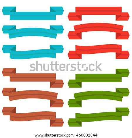 Set old ribbon banner illustration eps10 stock vector - Text banner design ...