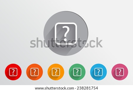 Set of colorful help icons - stock vector