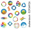 set of colorful icons - stock vector