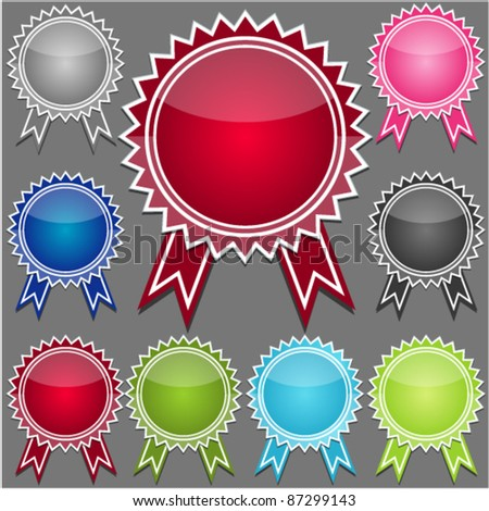 set of colorful medals vector