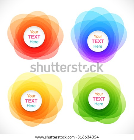 Set of colorful round abstract banners. - stock vector