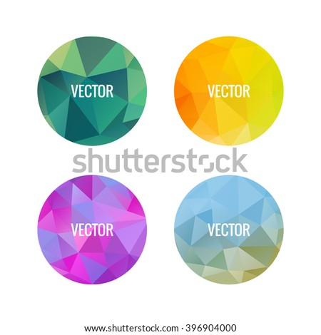 Set of colorful round logos. Round shape. Geometric element. Disco ball sign. Planet illustration. Consellation image. Connected lines. Space elements.Gemstones image. Jewelry store emblem. - stock vector