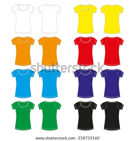 Set of colorful Shirt for women - stock vector