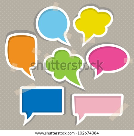 Set of colorful speech bubbles - stock vector