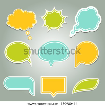 Set of colorful speech bubbles. eps 10 - stock vector