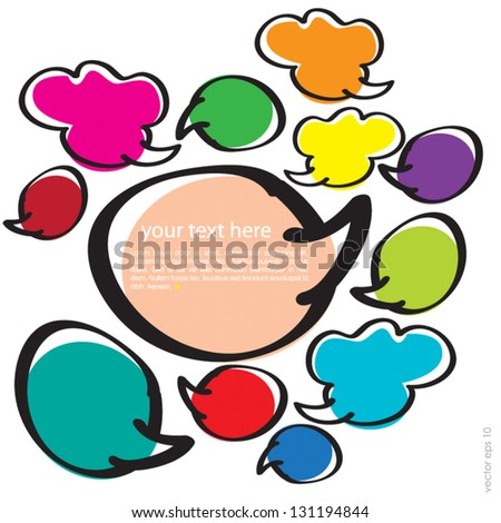 Set of colorful speech bubbles for your design