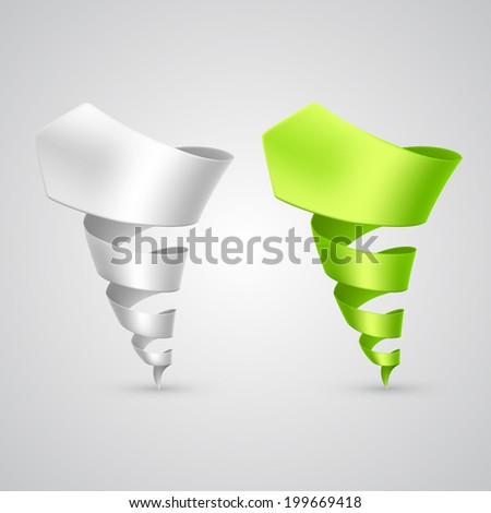 Set of colorful spiral arrows 3D.  Vector illustration - stock vector