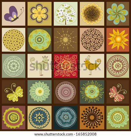 Set of colorful squares in vector - stock vector