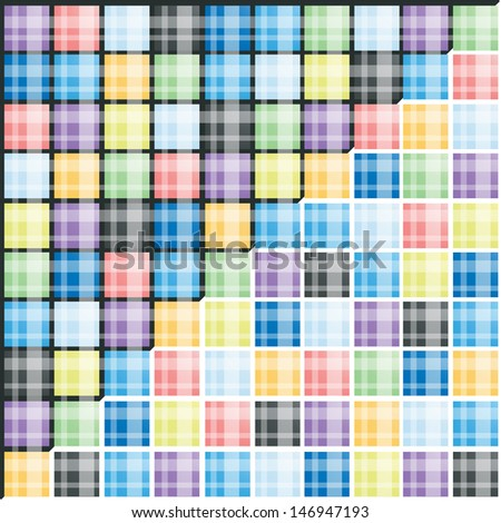 set of colorful striped background