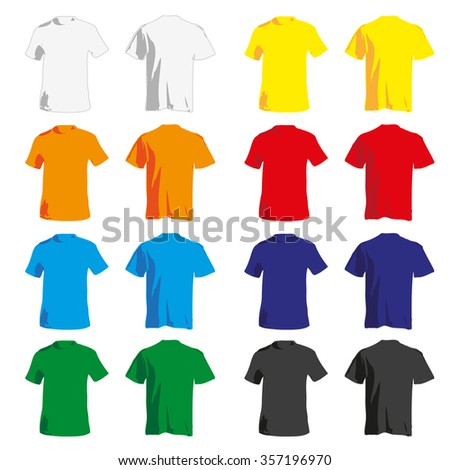 Set of colorful Tshirt tanks for men  - stock vector