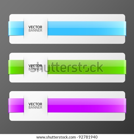 set of colorful vector banners - stock vector