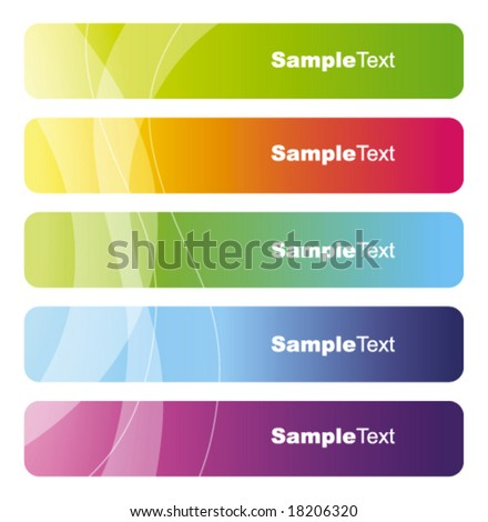 Set of colorful vector banners Colorful abstract background textures - trendy business templates with copy space Contemporary textures - stock vector