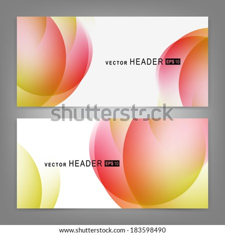 Set of colorful vector banners or business card.  Vector illustration  - stock vector