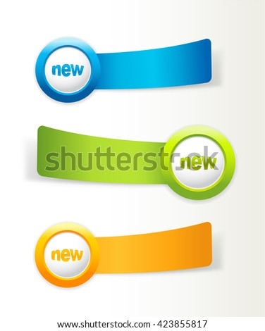 Set of colorful vector labels with space for your text.