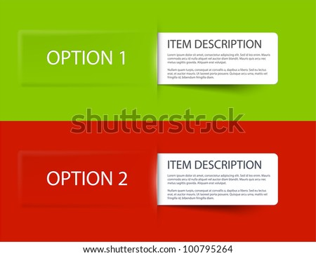 Set of Colorful Vector Sample cards for various options - stock vector