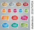 Set of colorful vector stickers - stock photo