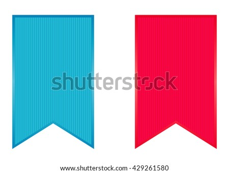 Set of colorful vector stickers on white background - stock vector
