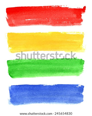 Set of colorful watercolor banners. Vector Eps10.