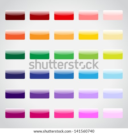Set of colorful web buttons for your design - stock vector