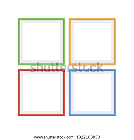 Set Colorful Wooden Frames Wooden Picture Stock Vector HD (Royalty ...